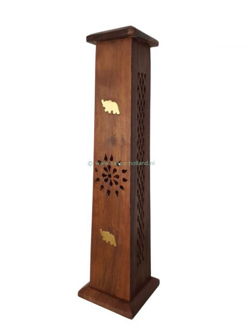Wierooktoren hout 8x8x31cm