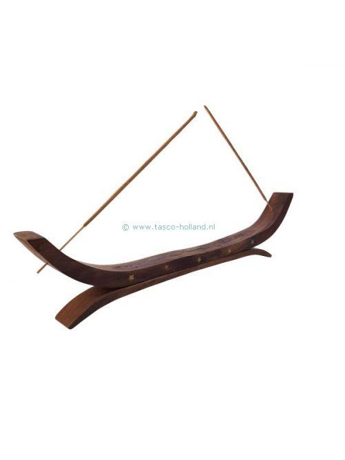 Incenseburner wood 36x2.5x7.5 cm