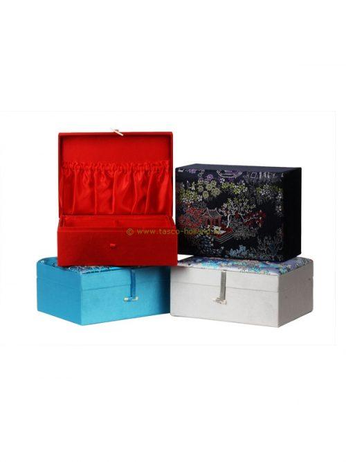 Jewellery box brocade 20x15x10cm