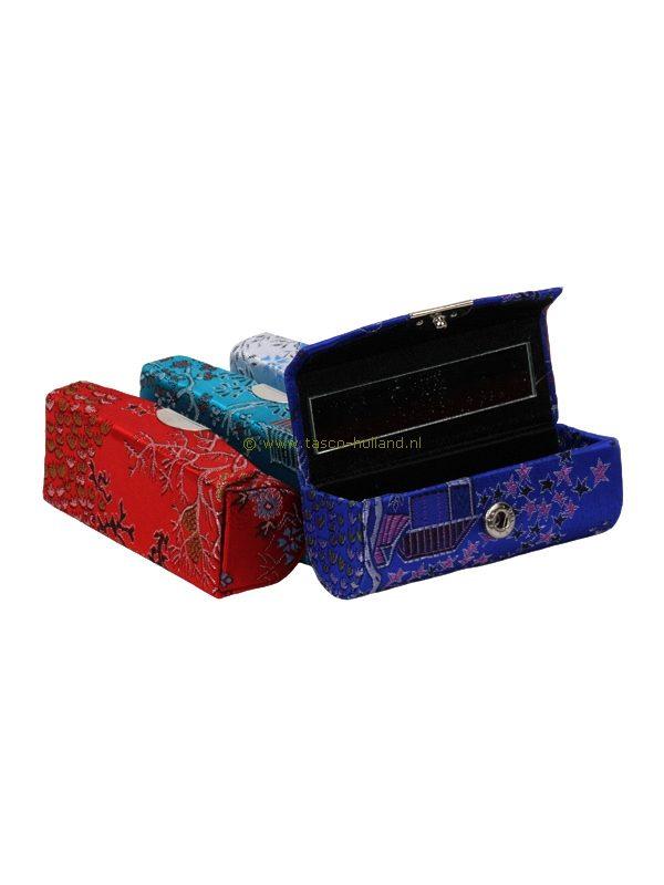 Lipstickhouder brokaat 9x3,5x3 cm