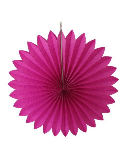 Decoration ball paper 60x60x8 cm fuchsia