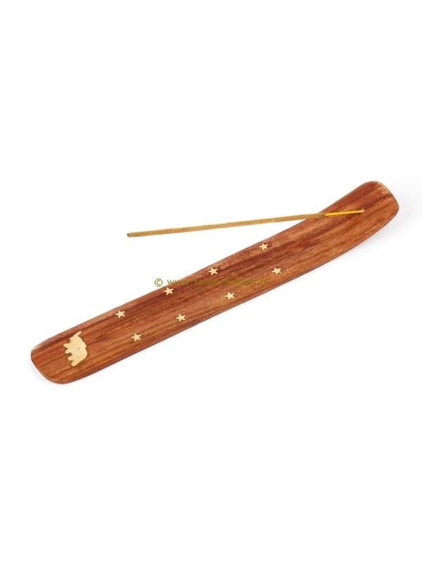 Wierooklatje hout met koper inleg 16x3,5x1 cm