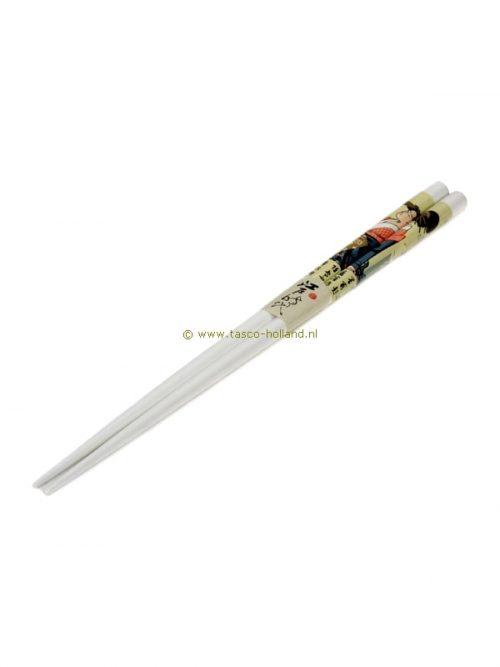 paar Eetstokjes geisha wit 22,5 cm
