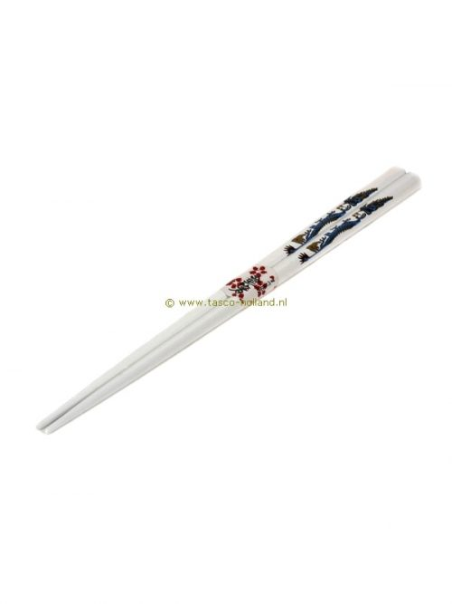 pair Chopsticks dragon white 22.5 cm