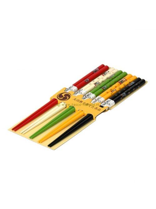 set/5pr Chopsticks lucky cat 22.5x10x1 cm
