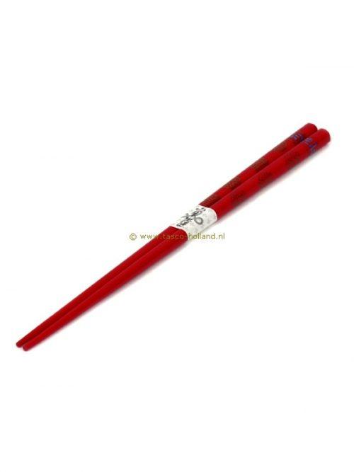 pair Chopsticks red/round character 22.5 cm