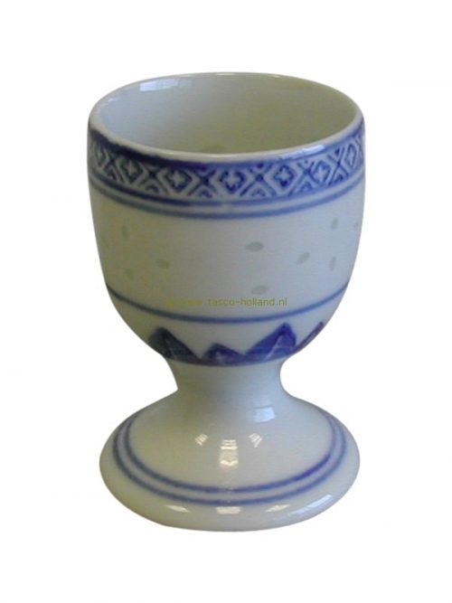 Egg holder blue white ricepattern 7 cm