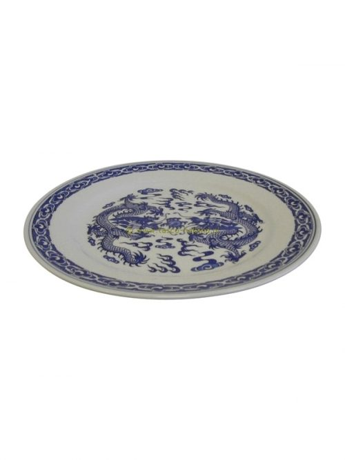 Plate blue dragon 25cm