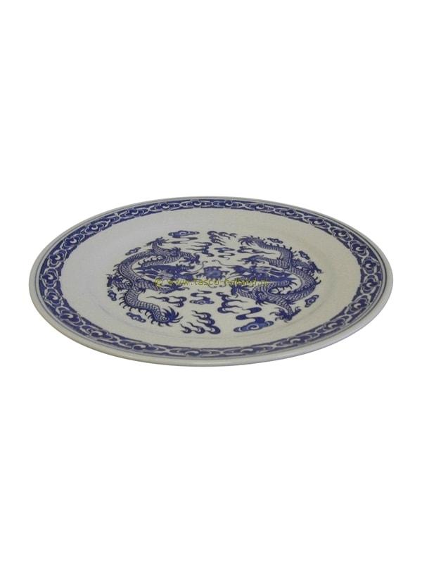 Plate blue dragon 25cm