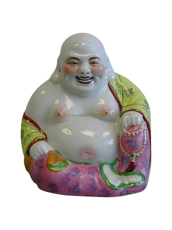 Boeddha zittend porselein 20 cm