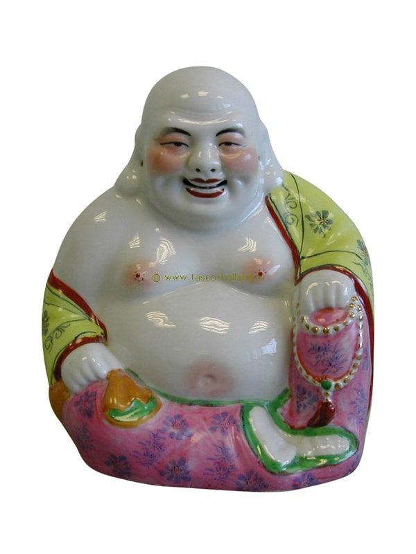 Boeddha zittend porselein 25 cm
