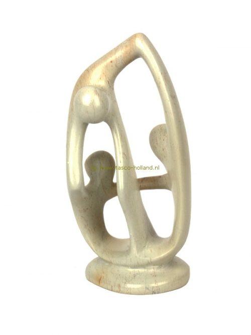 Verbondenheid/3 figuren kisii 16x9 cm