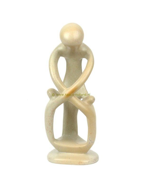 Moeder/2kind cross-hands kisii 20 cm