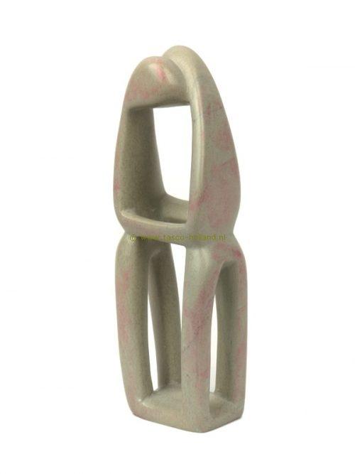 Kisii steen beeldje Geliefden 15 cm