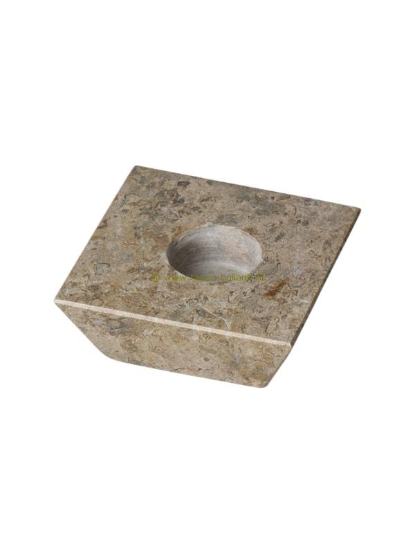 Waxinehouder trapezium fossiel 10 cm
