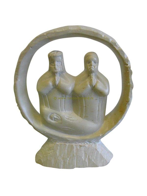 Jozef Maria Jezus kisii in ringvorm 15cm