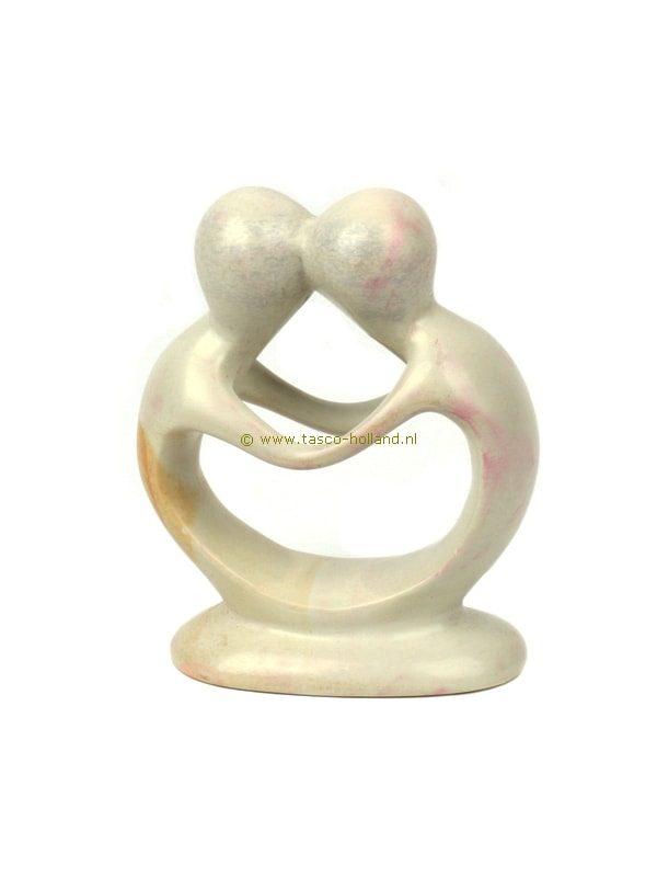 Kisii steen beeldje Geliefden kussend 10cm