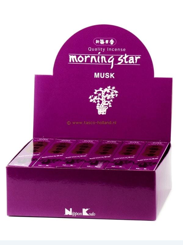 Wierookstokjes Morning Star Musk 13 cm groothandel
