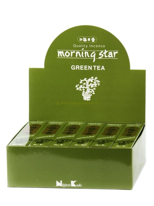 Wierookstokjes Morning Star Green Tea 13 cm groothandel