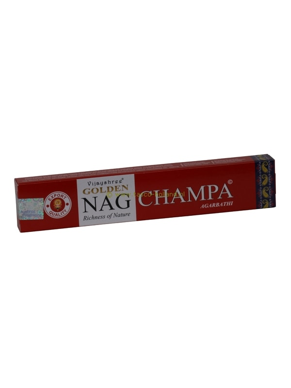 Wierook Golden Nag Champa 22x4.5x2 cm