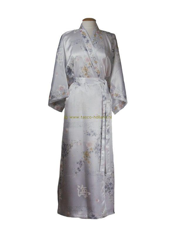 Kimono bloem polyester (080) wit