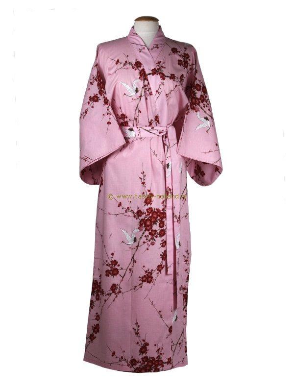 Kimono kersenbloesem katoen (547) roze