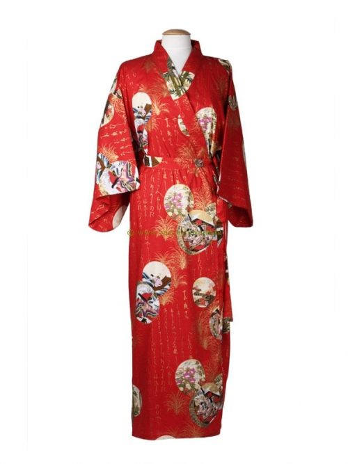 Kimono princess katoen (536) rood
