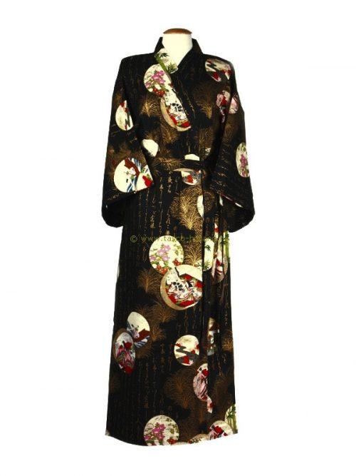 Kimono princess katoen (536) zwart