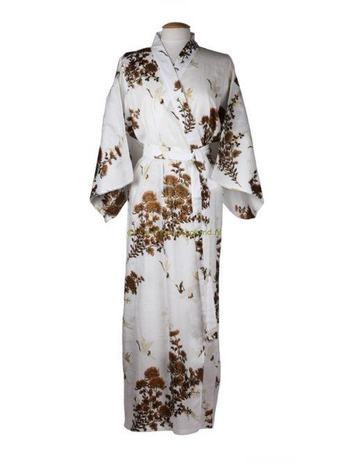 Kimono kraanvogel katoen (538) wit