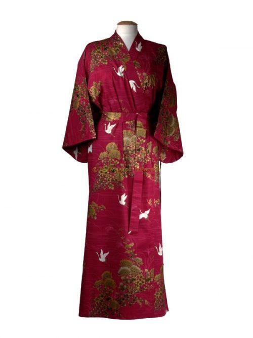 Kimono kraanvogel katoen (538) rood