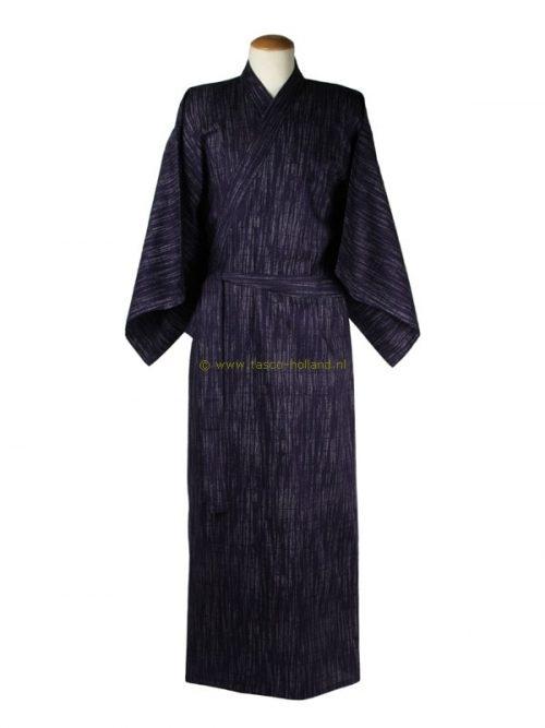 """Yukata cotton 59"""" kasuri (522) navy blue"""