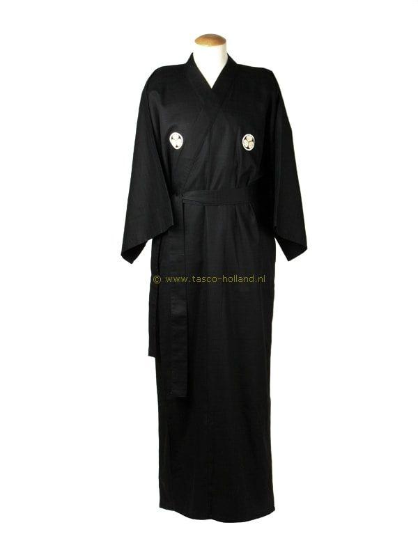 "Kimono ""Crest"" katoen (589) zwart"