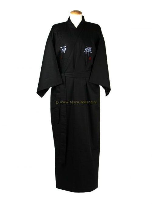 """Kimono """"Zen"""" katoen (0554) zwart"""