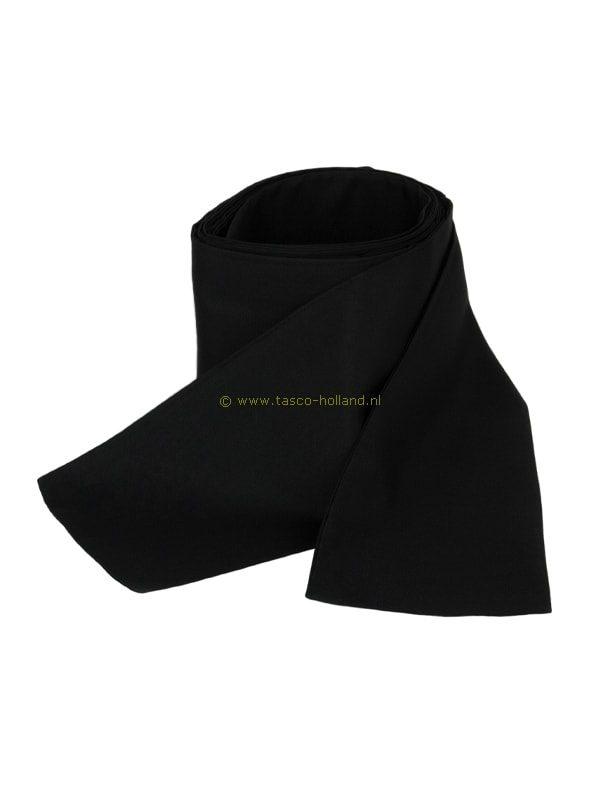 Obi omslagband zwart polyester 275x10cm