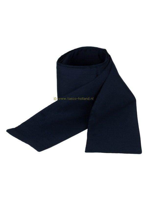 Obi omslagband blauw polyester 275x10cm