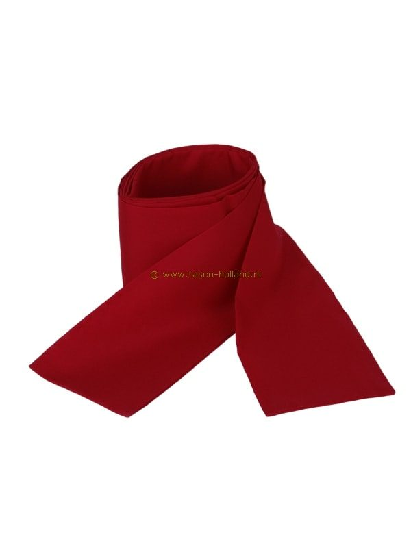 Obi omslagband rood polyester 275x10cm