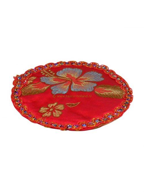 set/6 Coasters round brocade 10cm