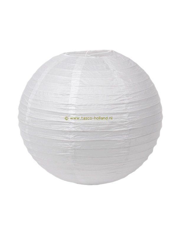Lampion rond wit rijstpapier 40 cm