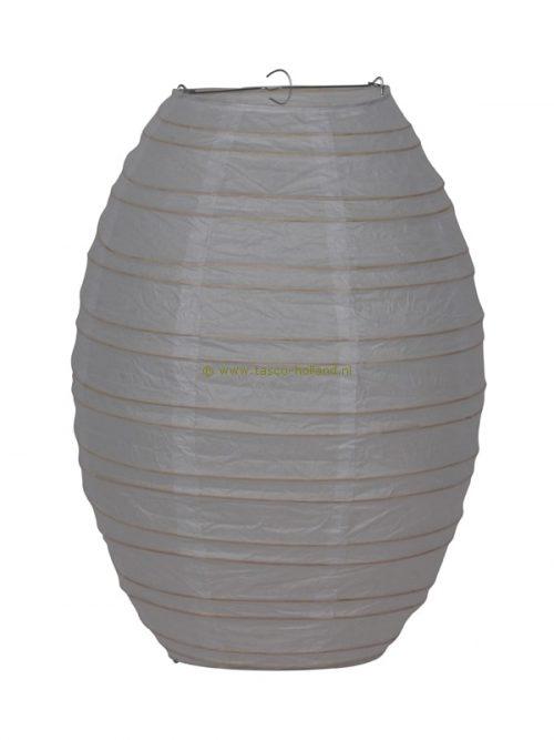 Lamp wit papier ovaal 40 cm