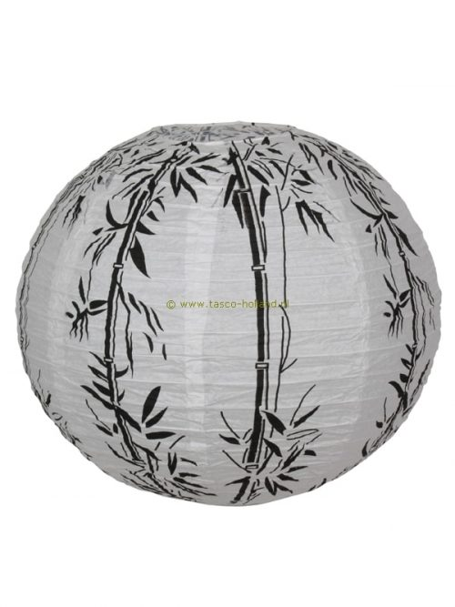 Lampion white/bamboo paper 40cm