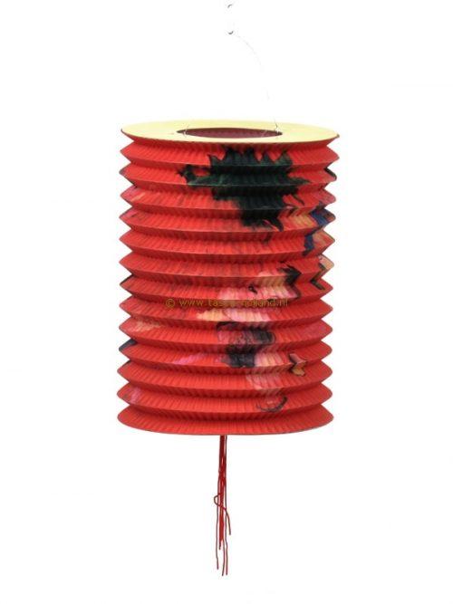 Lampion lang kind rood papier 21x15 cm