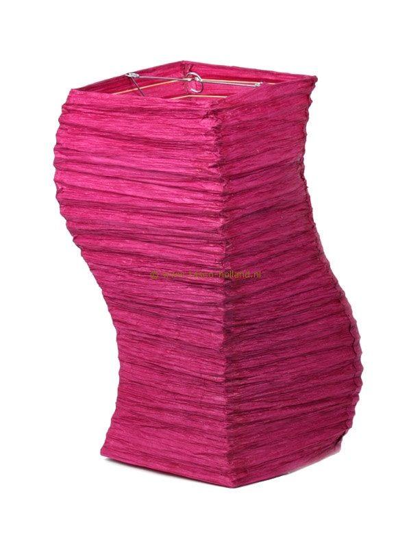 Lamp paars papier luxe 20x20x49 cm