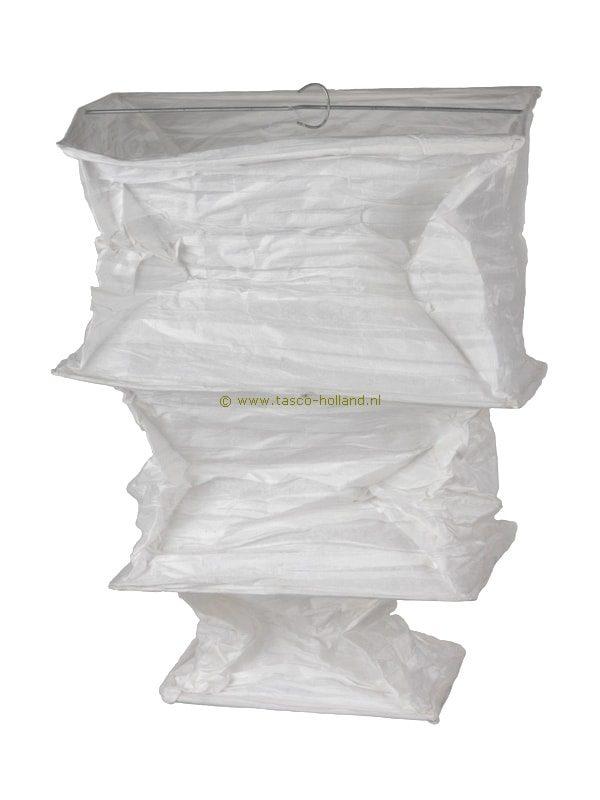 Lamp crepe papier vierkant 25x53 cm