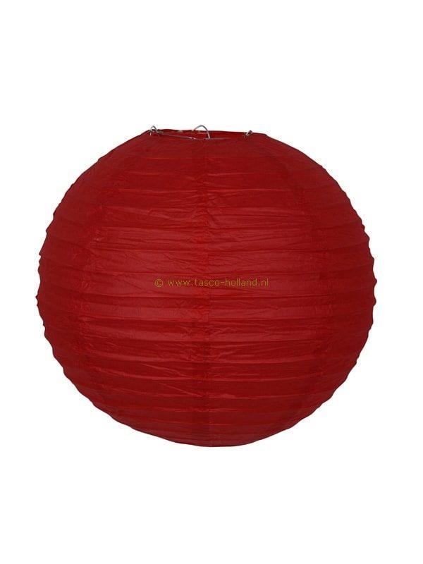 Lamp rood papier 30 cm
