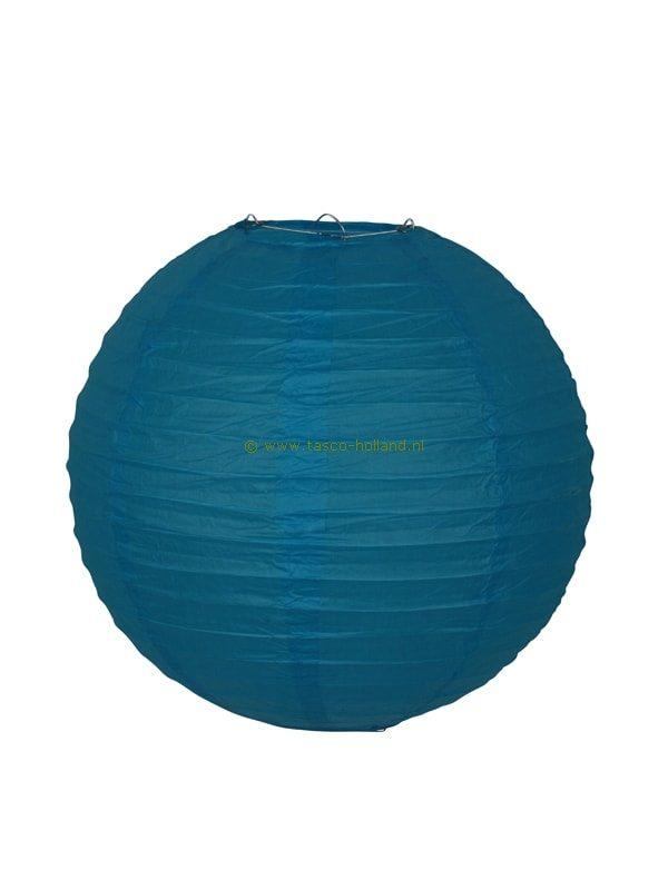 Lamp turquoise papier 30 cm