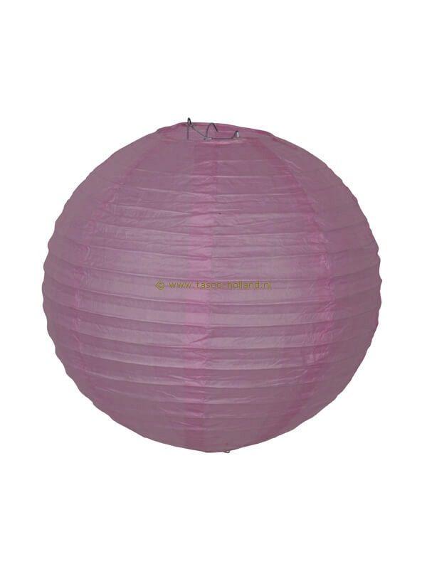 Lamp roze papier 40 cm