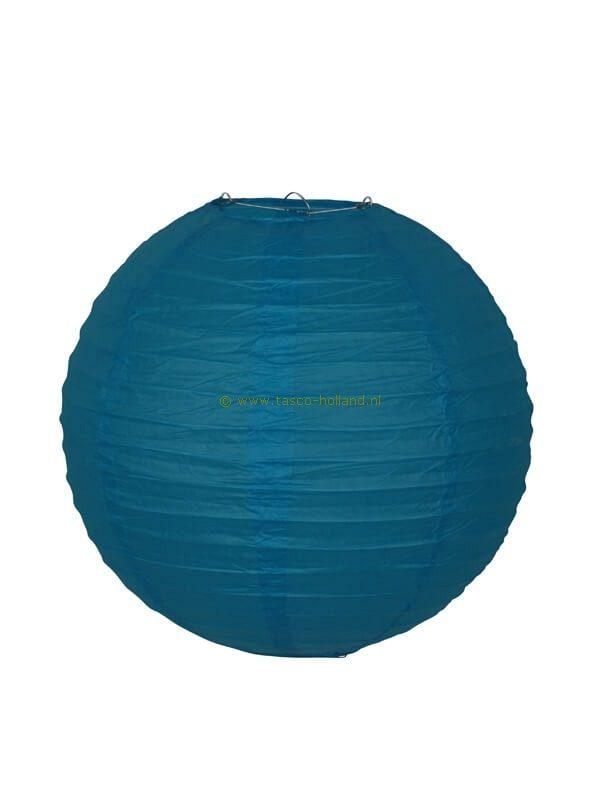 Lamp turquoise papier 40 cm