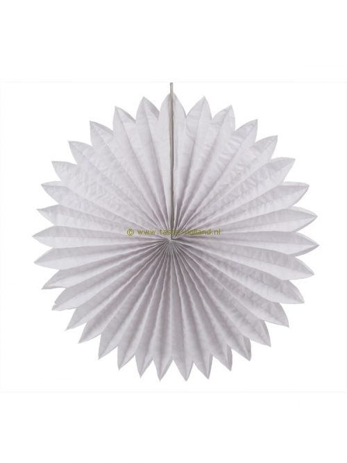 Decoration ball paper 60x60x8 cm white