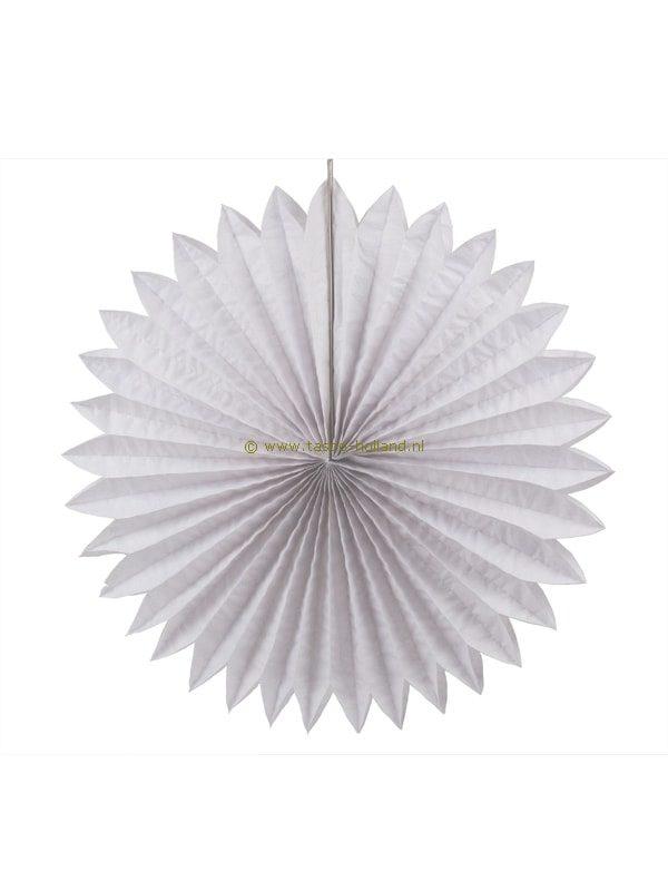 Decoratie bol papier 60x60x8 cm wit