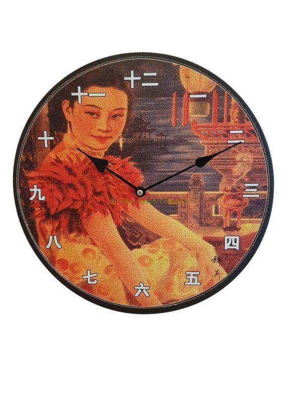 Klok china 33 cm 903625